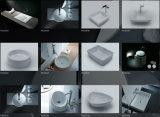 Qualité à extrémité élevé de baignoire extérieure solide en pierre artificielle