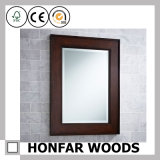 Dekorativer Badezimmerwhit-fertiger hölzerner Spiegel-Rahmen
