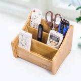 Suporte Multi-Function de madeira do armazenamento dos artigos de papelaria Desktop