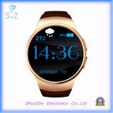 Bluetoothの健康のモニタが付いているKw18電話の方法目覚し時計のAndriodのスポーツのスマートな腕時計