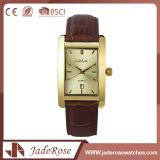 Relógio do couro das faixas do falso do retângulo de Customed