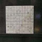 Azulejo de mosaico de cristal de mármol blanco de Cararra del cuarto de baño popular (MS-638)