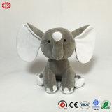 Jouet gris animal d'éléphant bourré par peluche pelucheuse molle neuve de modèle