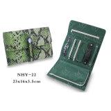 緑ヘビ様式パターンビロードの宝石類の袋