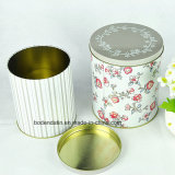 Rundes Metal Tin Box mit Customized Cmyk Printing, Two Tin Box Ein Set Tin Box