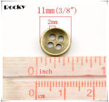 11mm de metal de cuatro agujeros de costura-on botón para la ropa de las mujeres
