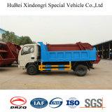 caminhão do triturador de coleção Waste do euro 4 da coleção do tambor de 4cbm Dongfeng