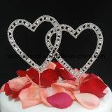 Cappello a cilindro Sparkly della torta di cerimonia nuziale del cuore del cappello a cilindro della torta del Rhinestone