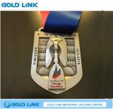 Recuerdo corriente de la concesión de los deportes de la medalla de la raza del maratón de encargo