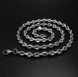 Unisex Collar de 4,5 mm de langosta cadena de la joyería de acero de titanio Moda