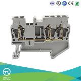 Connettori della plastica del blocchetto Jut3-2.5/1-2 PA66 del terminale filo della molla