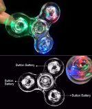 Girador de cristal impermeável claro colorido transparente da mão do diodo emissor de luz do modelo novo
