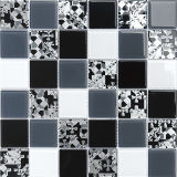 Verde naturale, Brown, mosaico di vetro bianco