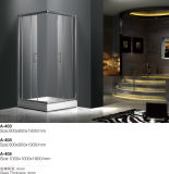 дверь ливня ванной комнаты закала 4mm стеклянная просто (400)