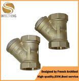 Y datilografa o filtro de bronze do filtro de água Dn50&40 do encanamento Y