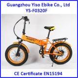 20 polegadas 250W com o Shimano que dobra a bicicleta elétrica 36V 10ah do pneu gordo