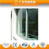 Ventana de desplazamiento de cristal de aluminio del fabricante de la fábrica de China sola, colores modificados para requisitos particulares y diseños