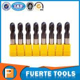 Flauta contínua de Endmills 2 do carboneto de tungstênio para a trituração de cobre