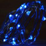 マイクロLEDの青は銅線33FTを屋内のための100つのLEDs適用範囲が広い星明かりのストリングライトつける