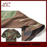 軍の戦術的な方法カムフラージュの不足分の袖のTシャツの綿のTシャツ