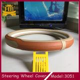 Nuovo coperchio all'ingrosso del volante dell'automobile del cuoio della fibra