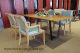 가구 식사를 위한 장방형 테이블 그리고 의자