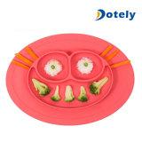 Runder Silikon-Absaugung-Frosch Placemat für Kinder