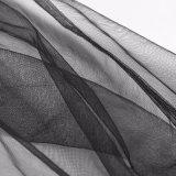 Pannello esterno lungo sexy di rave Pq-210 di nerezza del progettista delle ragazze gotiche punk della maglia