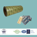 Certificado ISO9001 Ptp Pharmaceutical Packaging papel de aluminio para tabletas aleación 8011 H18