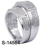 Venta al por mayor de plata del anillo de los pares de la joyería 925 de la manera