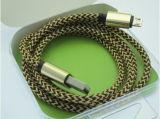 Câble de caractéristiques tressé à grande vitesse en gros d'USB pour le micro et le Lighning