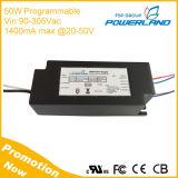 Excitador programável listado do diodo emissor de luz do UL 50W 1400mA com escurecimento de 0-10V/PWM /Rset /Clock