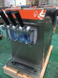 3本の味のソフトクリーム機械12Lによってフリーズされるアイスクリームコーン機械
