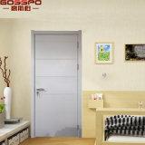 Portello interno interno bianco intagliato abitudine di legno solido della stanza (GSP2-095)