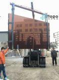 Genres de verre à vitres du constructeur en verre de Topo (T-TP)