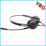 Micが付いているUSBのコンピュータのコールセンターのVoIPのヘッドセットを取り消す調節可能な騒音