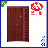 Ventas calientes una y puerta de entrada de acero de la media seguridad de las hojas