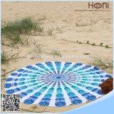 Be02Turkishの円形のビーチタオルのビーチタオルの円形のアズテック派のビーチタオル