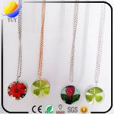 Покрашенные смолаой реальные ювелирные изделия ожерелья цветка