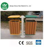 Composto plástico de madeira nenhum desvanecimento ao ar livre/caixote de lixo do jardim