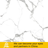 Azulejos de piedra de mármol blancos esmaltados del azulejo Polished lleno