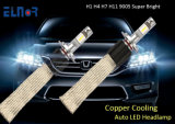 Iluminação automotriz de venda quente do diodo emissor de luz do carro H4 dos auto acessórios com projeto refrigerando de cobre