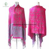 Châle chaud de Pashmina de mode de vente avec l'écharpe de l'hiver de jacquard d'anarcadier