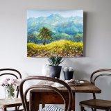 Pittura a olio di paesaggio di arte della parete delle foto delle montagne