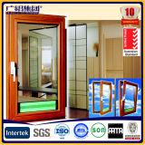 Деревянный цвет алюминиевое двойное застекленное Windows для окна наклона и поворота алюминиевого