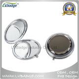 Lindo maquillaje compacto espejo de aumento de bolsillo