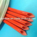 Funda ignífuga de la fibra de vidrio del silicón para la protección aislador