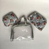 PVC u. Satin Sets Cosmetic Handbag für Women