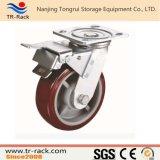 Mittleres Aufgaben-Schwenker-Fußrollen-Rad mit seitlicher Bremse