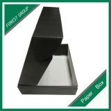 Коробка красивейшего черного Corrugated изготовленный на заказ печатание коробки Corrugated для ботинок